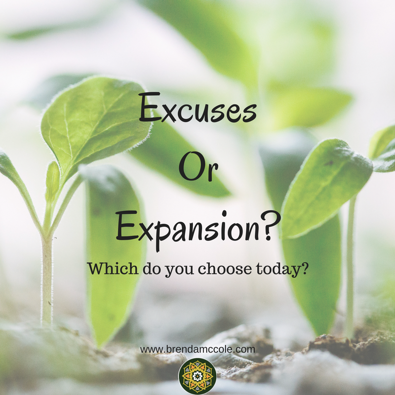 Do You Choose Excuses or Expansion?